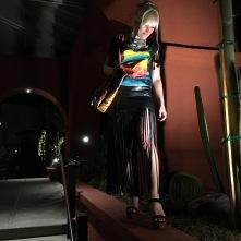 Date night! H&M fringe skirt